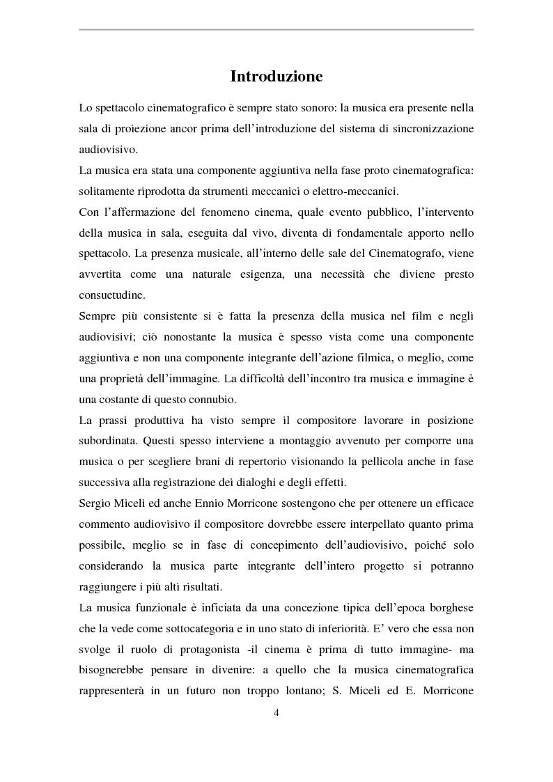 Anteprima della tesi: La musica di Ennio Morricone nel cinema di Elio Petri: intertestualità in 'Indagine su un cittadino al di sopra di ogni sospetto', Pagina 1