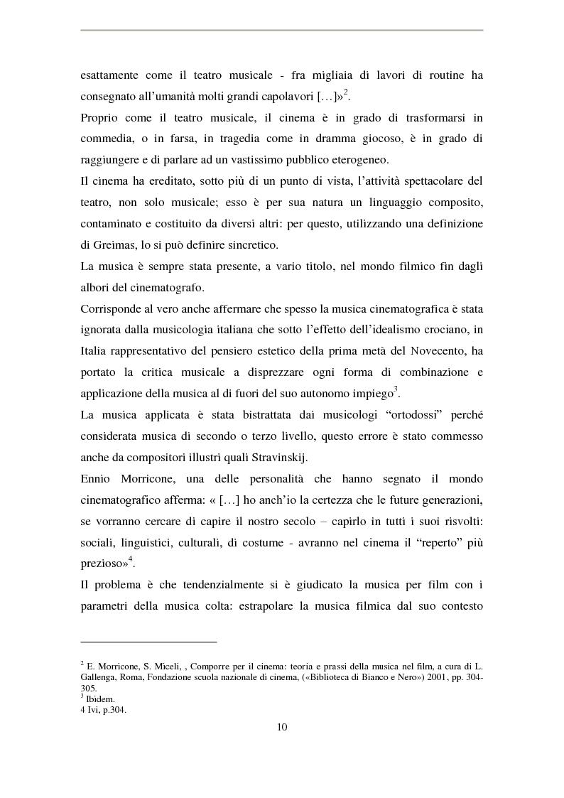 Anteprima della tesi: La musica di Ennio Morricone nel cinema di Elio Petri: intertestualità in 'Indagine su un cittadino al di sopra di ogni sospetto', Pagina 7