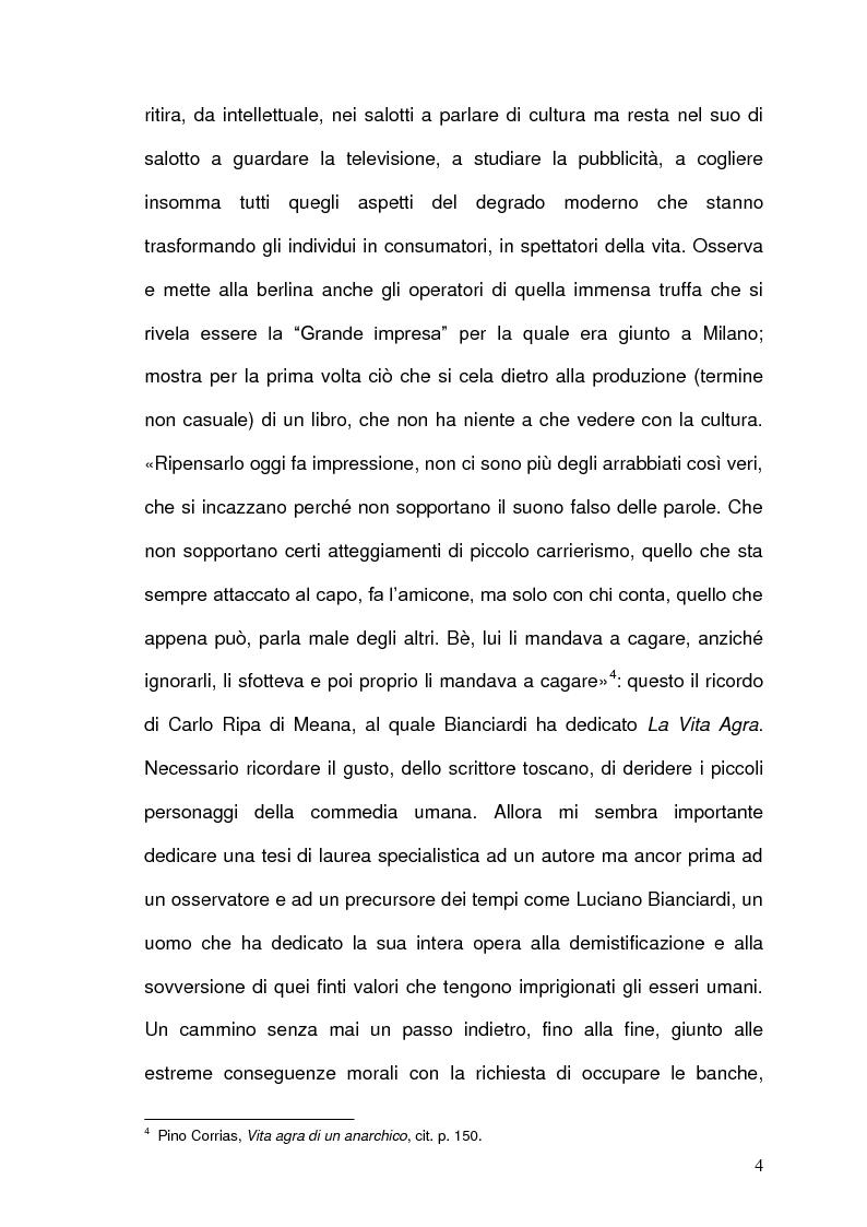 Anteprima della tesi: Luciano Bianciardi: lo sguardo, la malinconia, l'insofferenza, Pagina 4