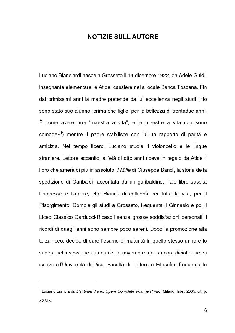 Anteprima della tesi: Luciano Bianciardi: lo sguardo, la malinconia, l'insofferenza, Pagina 6