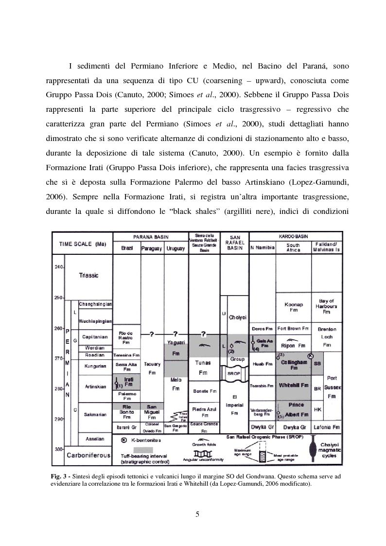 Anteprima della tesi: Analisi di rettili con adattamenti acquatici del Paleozoico Superiore del Brasile, Pagina 5