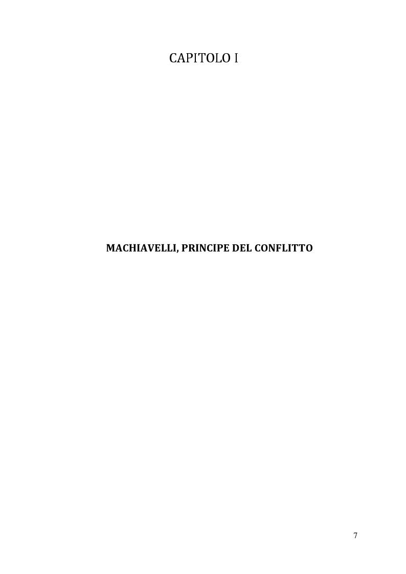Anteprima della tesi: Machiavelli, Principe del conflitto: analisi sulle moderne strumentalizzazioni del pensiero machiavelliano, Pagina 5