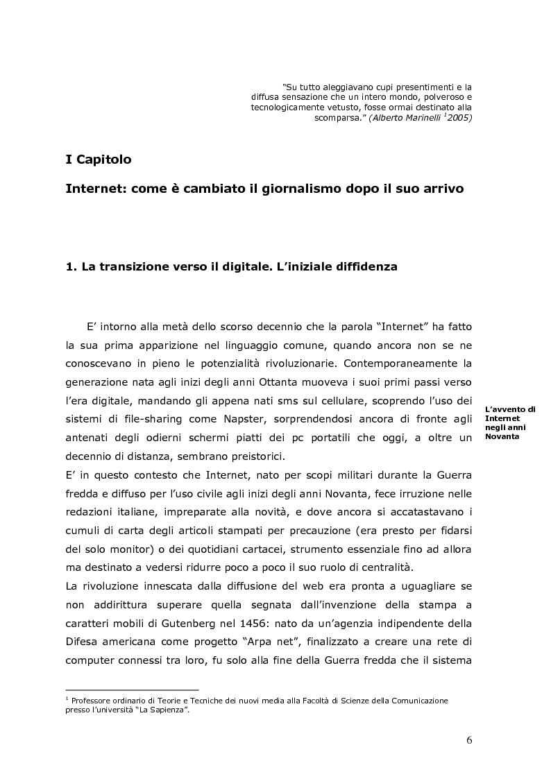 Anteprima della tesi: La crisi della carta stampata e i possibili sbocchi futuri, Pagina 3