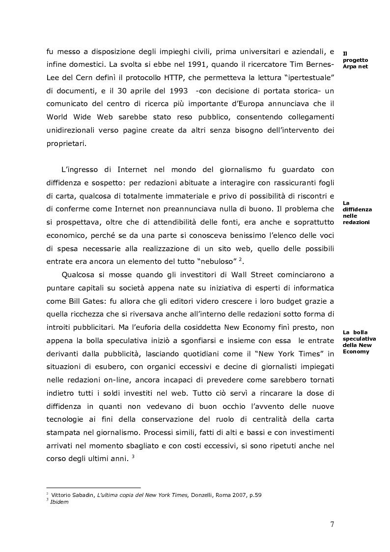 Anteprima della tesi: La crisi della carta stampata e i possibili sbocchi futuri, Pagina 4