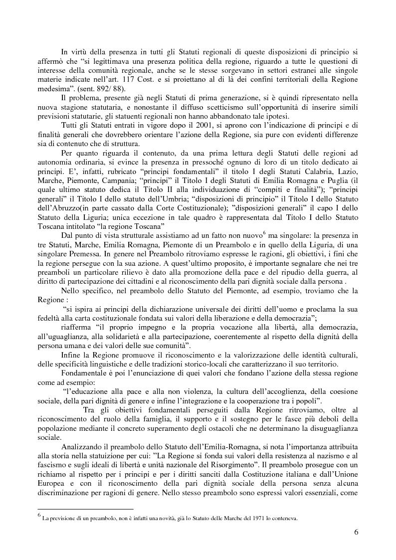 Anteprima della tesi: I diritti regionali nei nuovi statuti delle regioni ordinarie e nella giurisprudenza costituzionale, Pagina 2