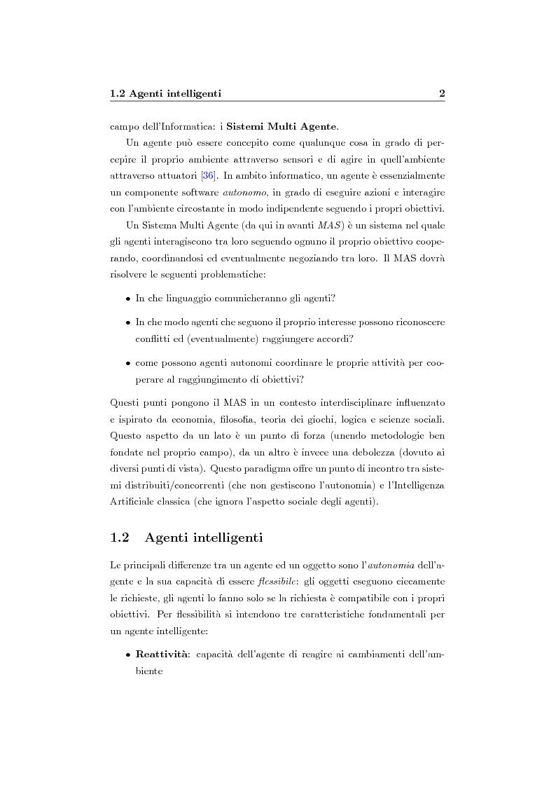 Anteprima della tesi: Organizzazione e ruoli in JADE: architettura BOID per la coordinazione, Pagina 4