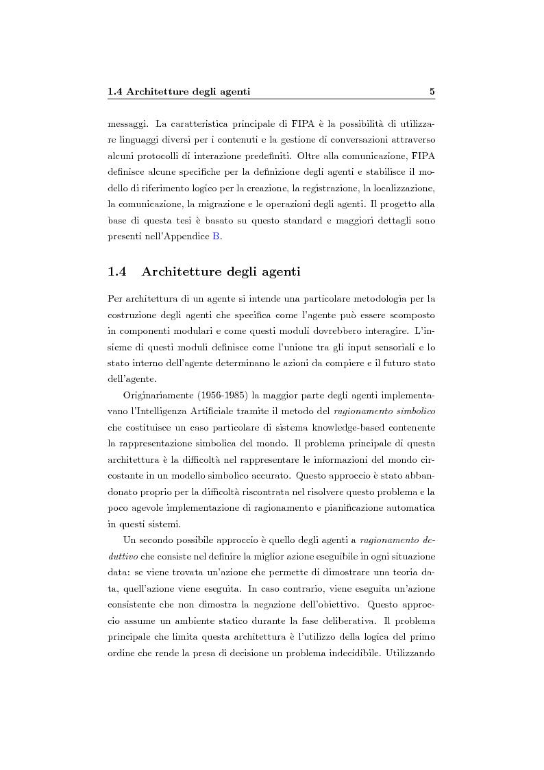 Anteprima della tesi: Organizzazione e ruoli in JADE: architettura BOID per la coordinazione, Pagina 7