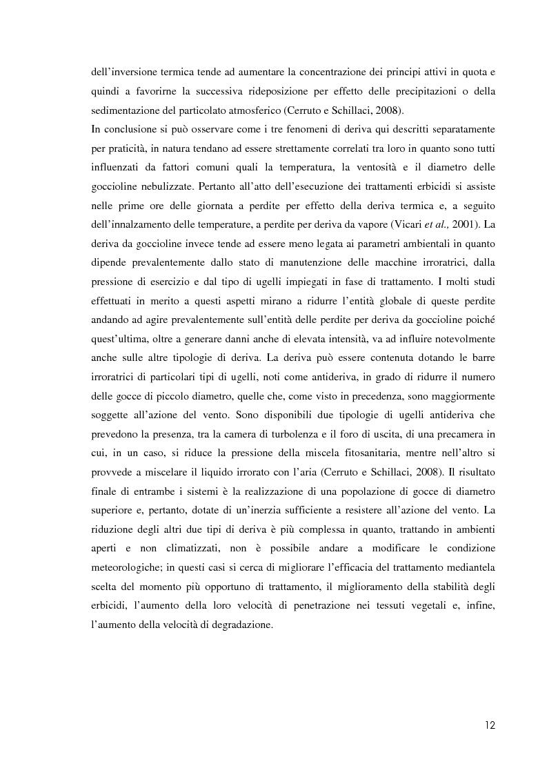 Anteprima della tesi: Comportamento ambientale dei diserbanti utilizzati in risaia, Pagina 12