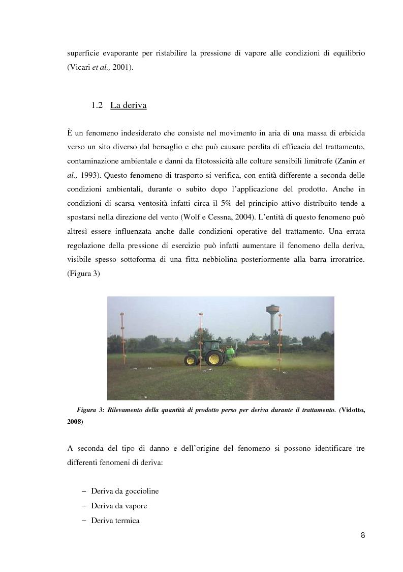 Anteprima della tesi: Comportamento ambientale dei diserbanti utilizzati in risaia, Pagina 8