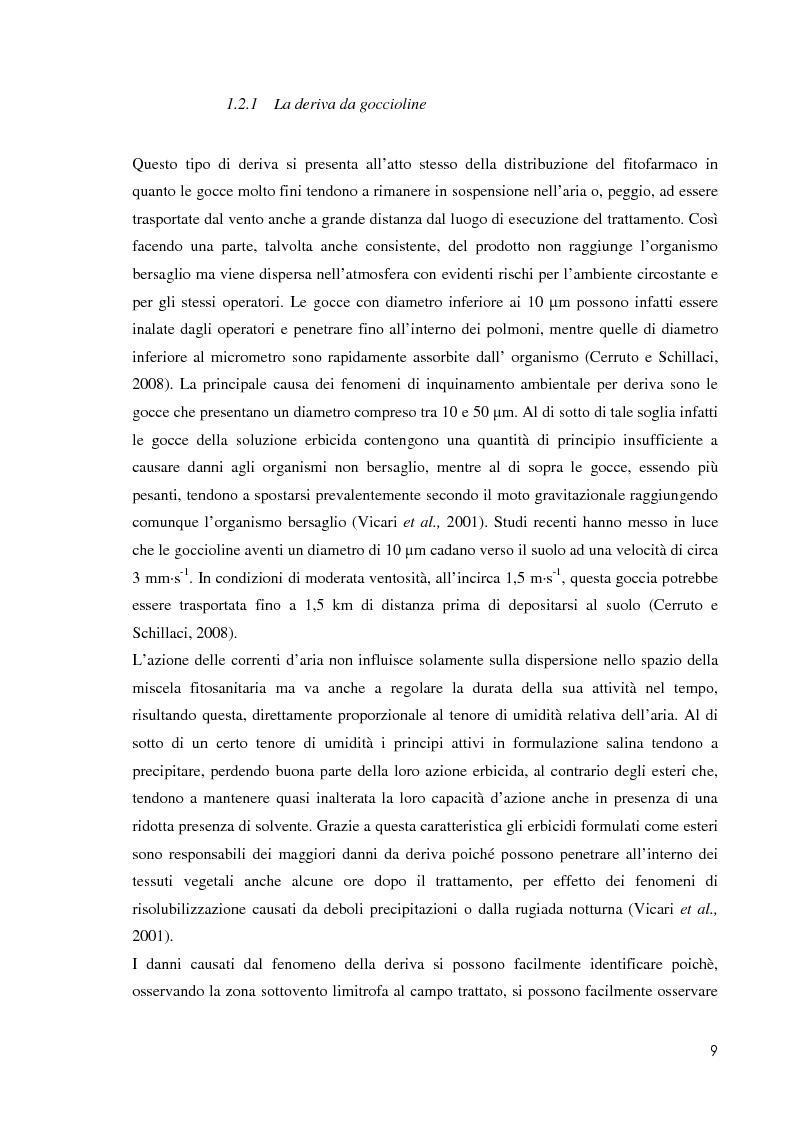 Anteprima della tesi: Comportamento ambientale dei diserbanti utilizzati in risaia, Pagina 9