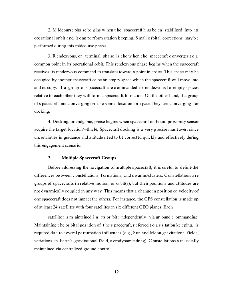 Anteprima della tesi: Relative Navigation of Multiple Spacecraft during Proximity Maneuvers, Pagina 10