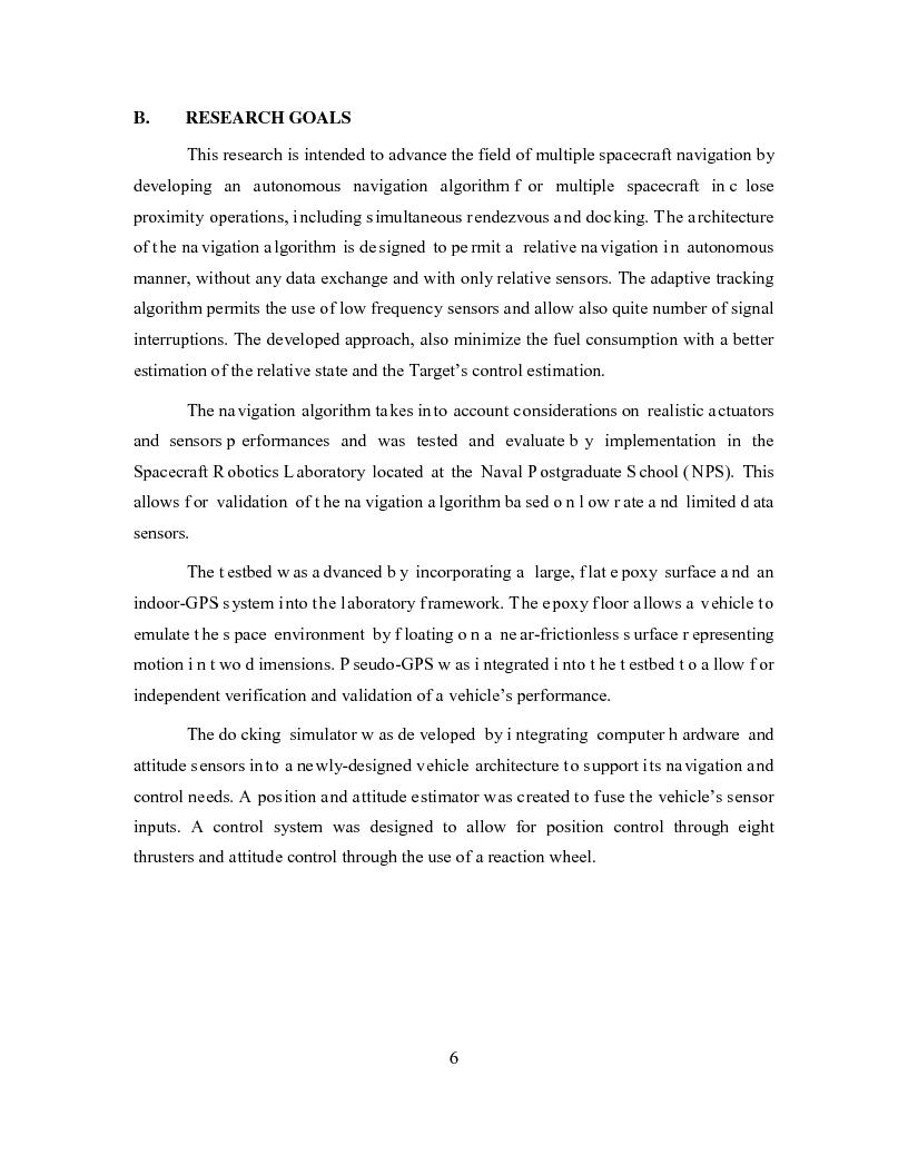 Anteprima della tesi: Relative Navigation of Multiple Spacecraft during Proximity Maneuvers, Pagina 4