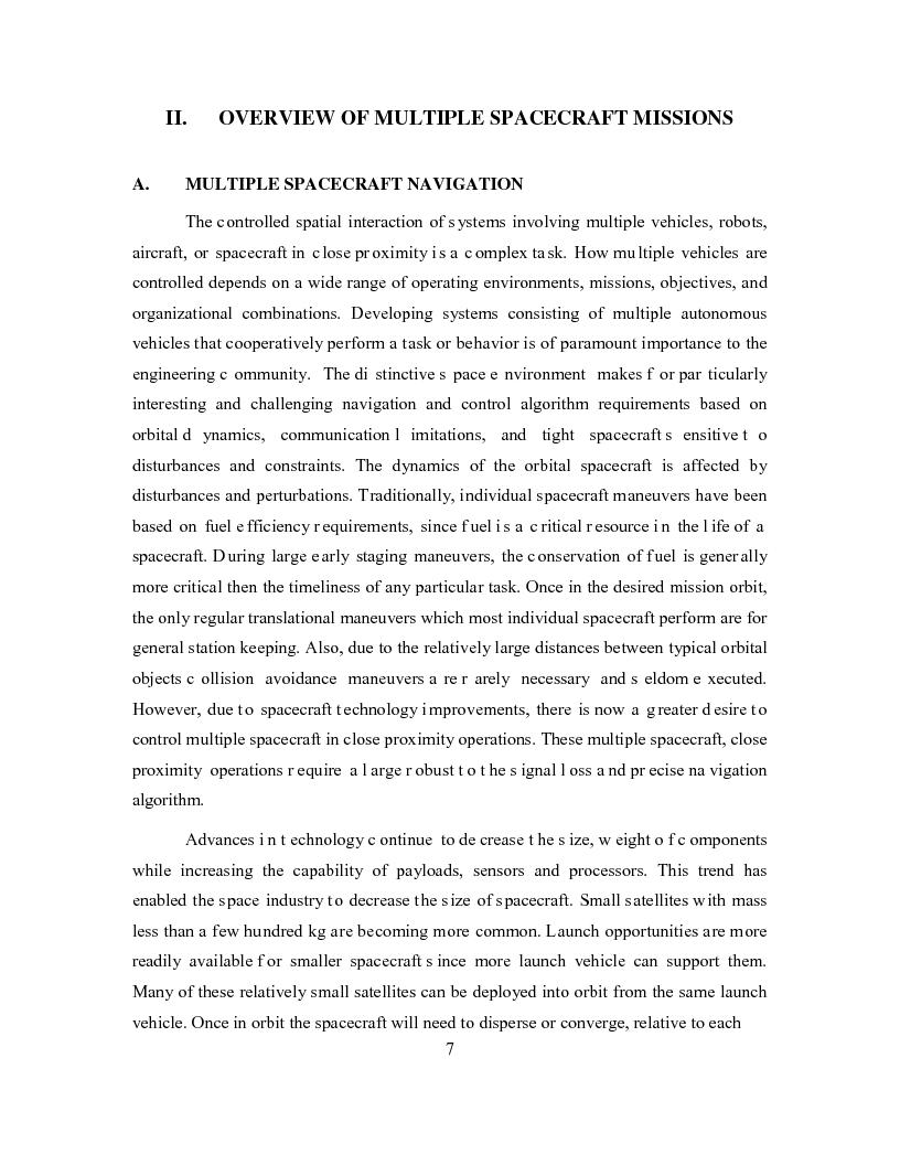 Anteprima della tesi: Relative Navigation of Multiple Spacecraft during Proximity Maneuvers, Pagina 5