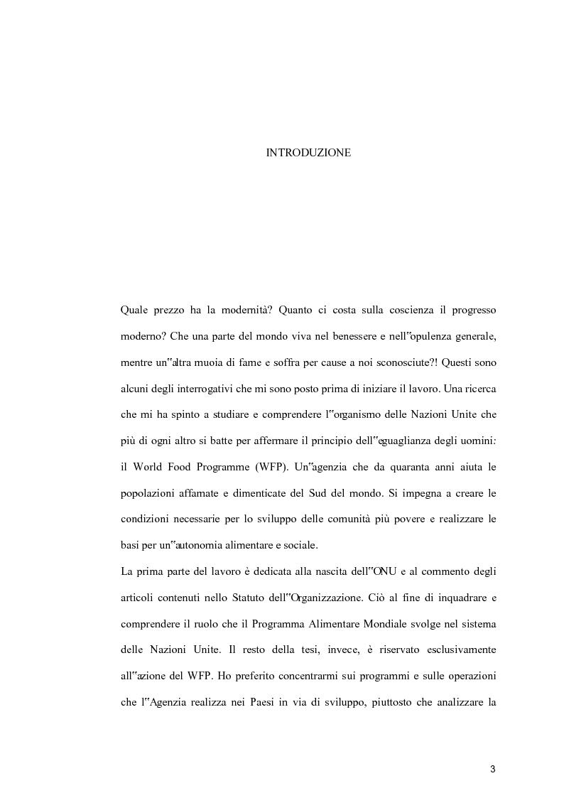 Anteprima della tesi: For building a better world: l'azione del World Food Programme, Pagina 1