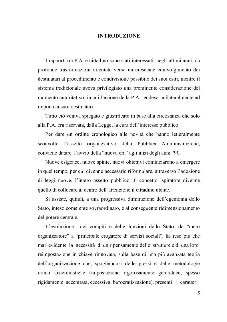 Anteprima della tesi: Cultura organizzativa e gestione delle risorse umane nello scenario evolutivo della pubblica amministrazione, Pagina 1