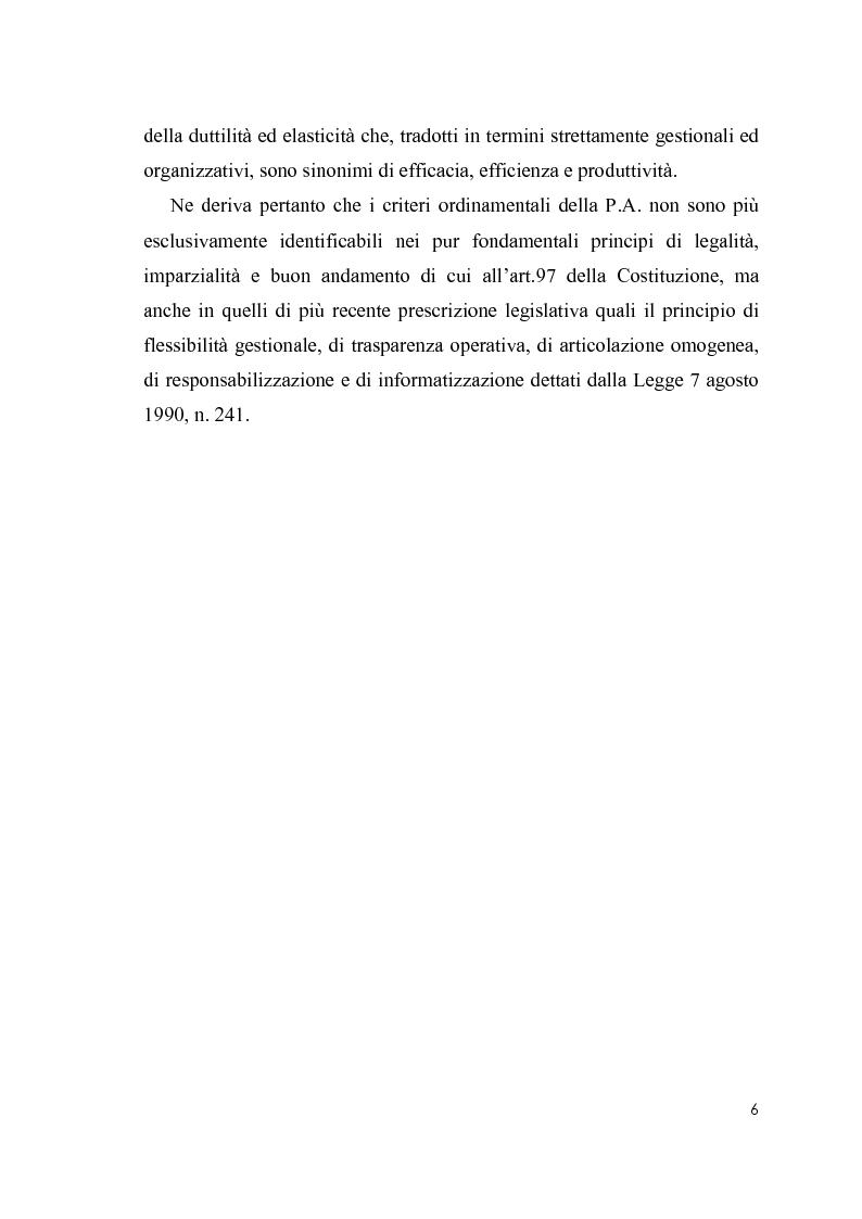 Anteprima della tesi: Cultura organizzativa e gestione delle risorse umane nello scenario evolutivo della pubblica amministrazione, Pagina 2