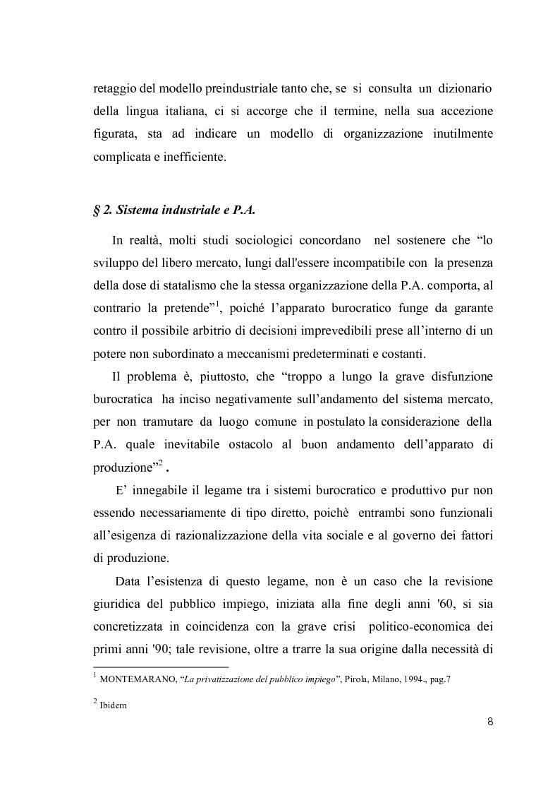Anteprima della tesi: Cultura organizzativa e gestione delle risorse umane nello scenario evolutivo della pubblica amministrazione, Pagina 4