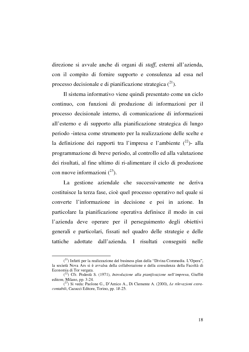 Anteprima della tesi: Il business plan nelle aziende teatrali. Il caso: ''La Divina Commedia. L'Opera.'', Pagina 10