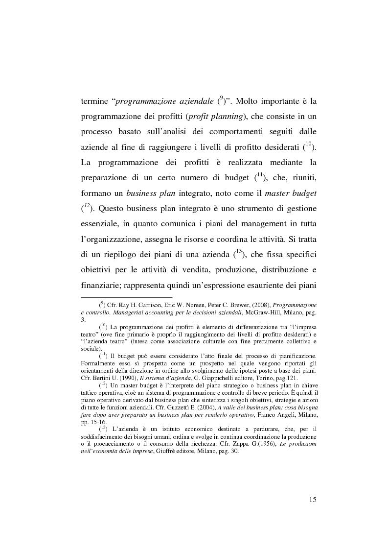 Anteprima della tesi: Il business plan nelle aziende teatrali. Il caso: ''La Divina Commedia. L'Opera.'', Pagina 7
