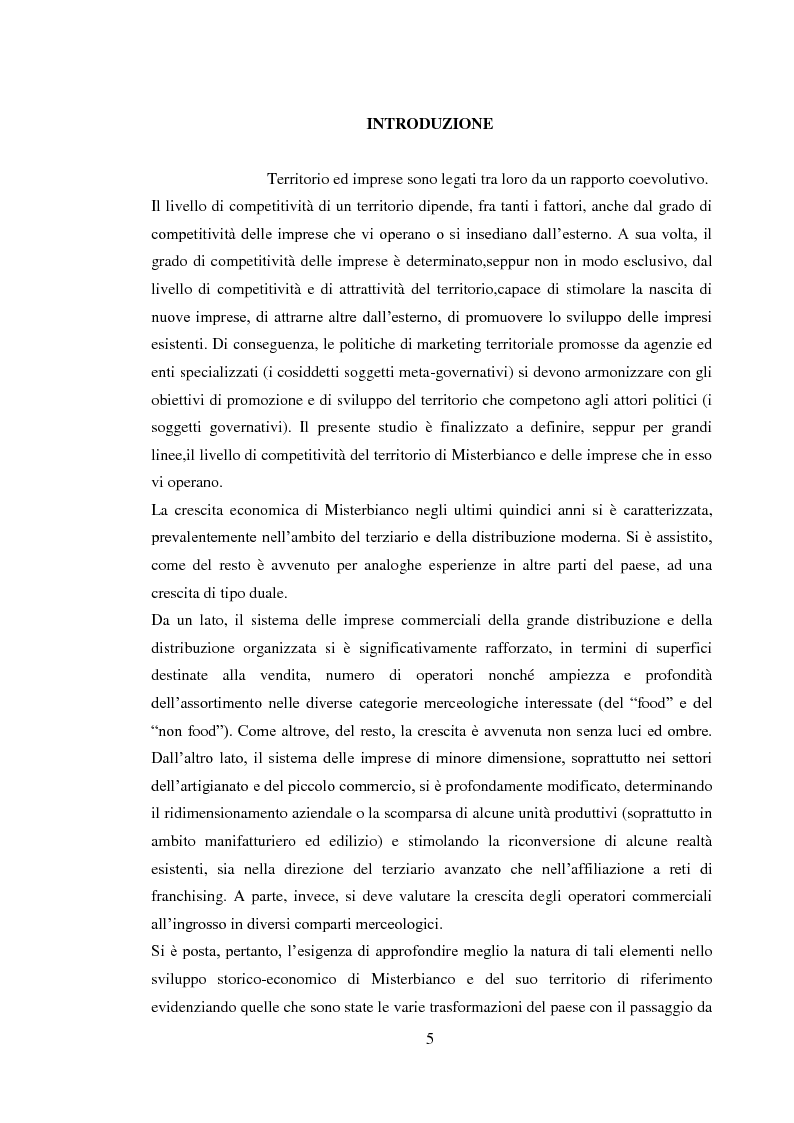 Anteprima della tesi: Da piccolo borgo rurale a grosso centro commerciale: il caso di Misterbianco, Pagina 1
