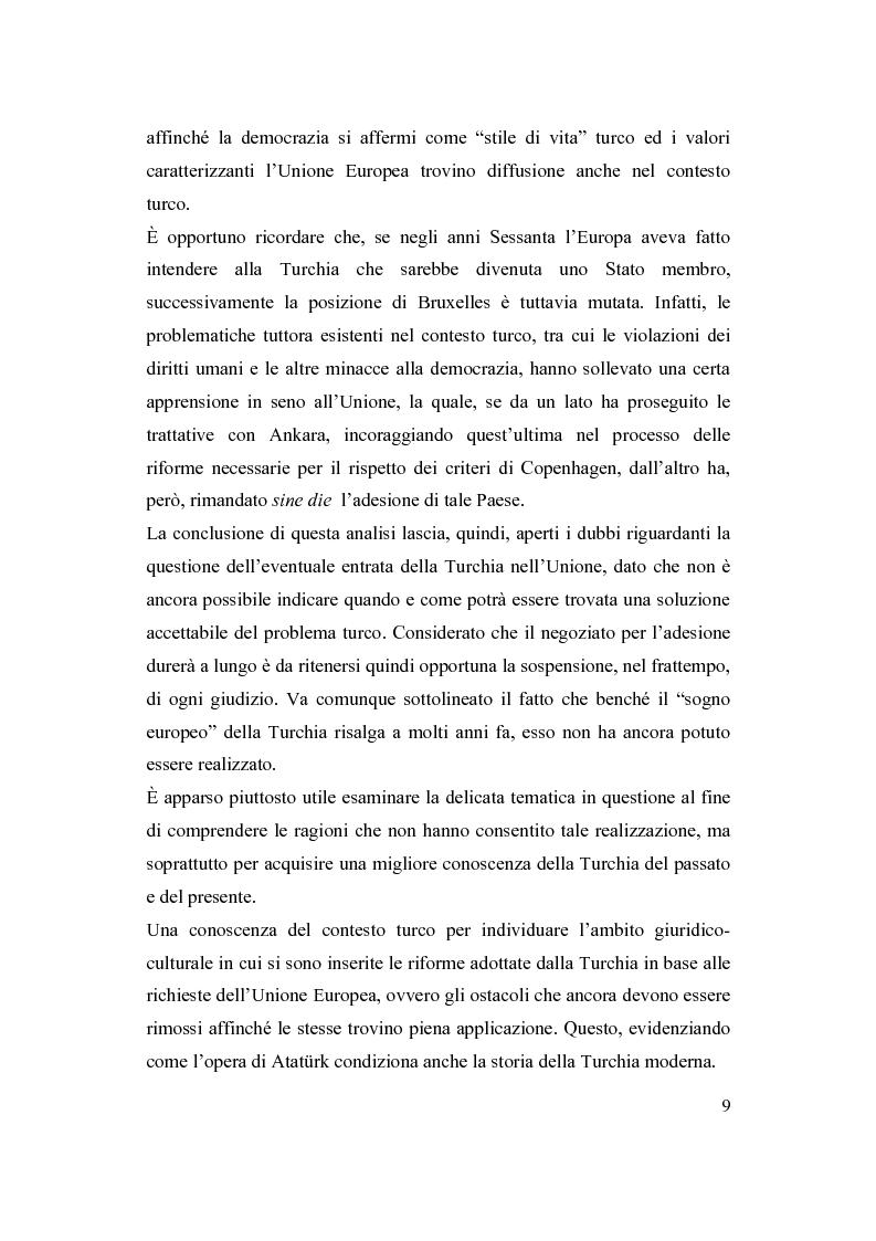 Anteprima della tesi: La Turchia e l'Europa, Pagina 3