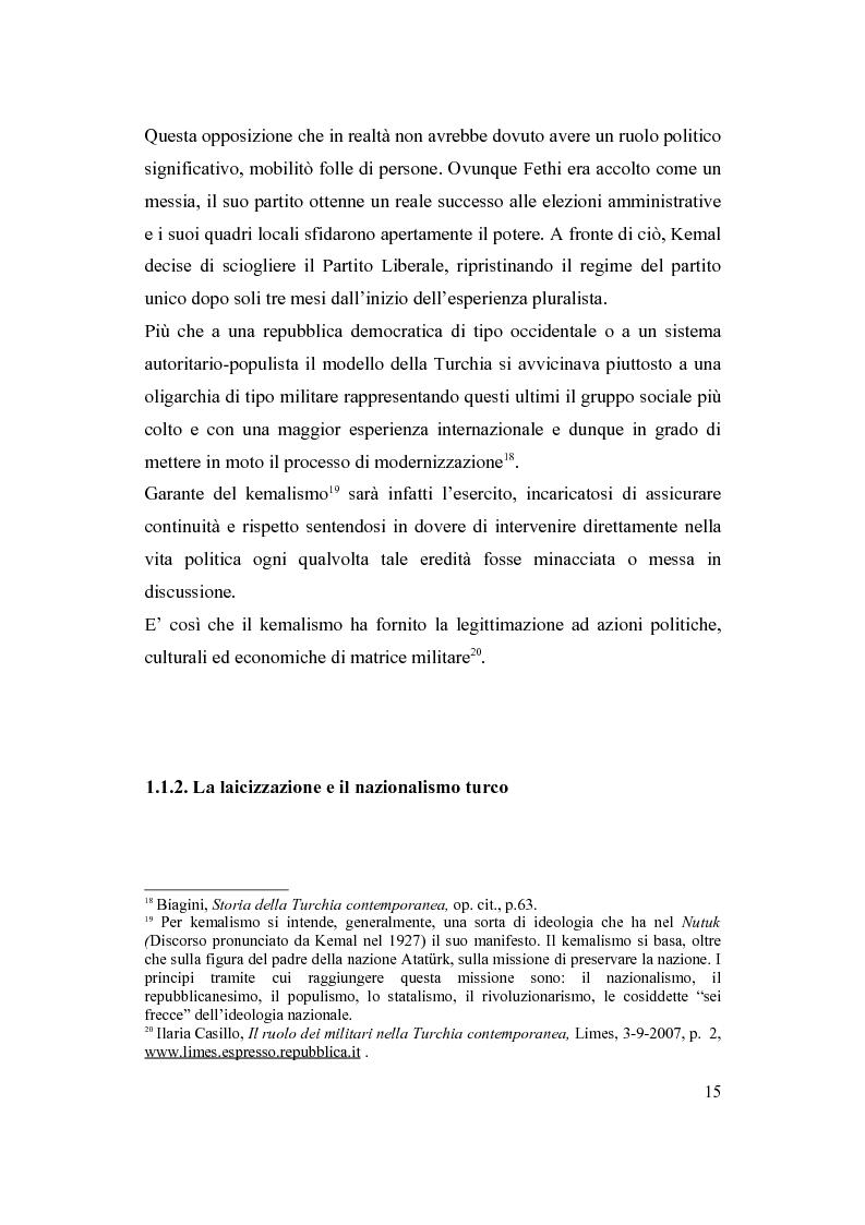 Anteprima della tesi: La Turchia e l'Europa, Pagina 9