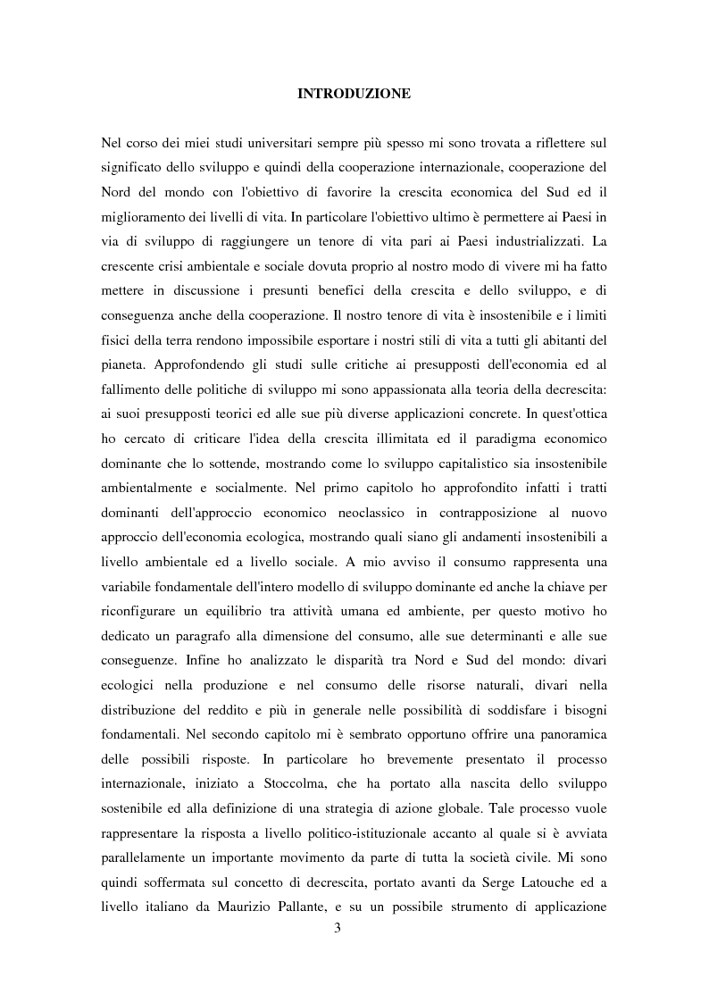 Anteprima della tesi: Economia e ambiente: riflessioni su decrescita ed esperienze concrete, Pagina 1