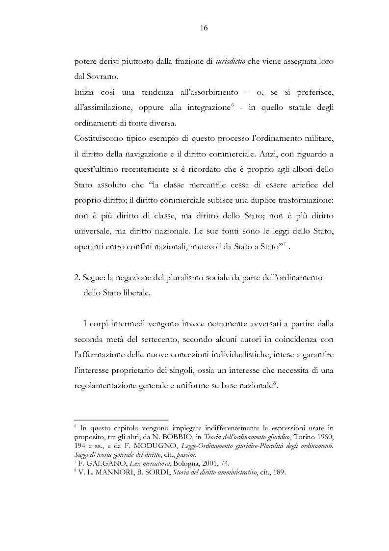Anteprima della tesi: Ordinamento sportivo ed ordinamento statale: spunti critici sulle possibili forme di interconnessione, Pagina 11