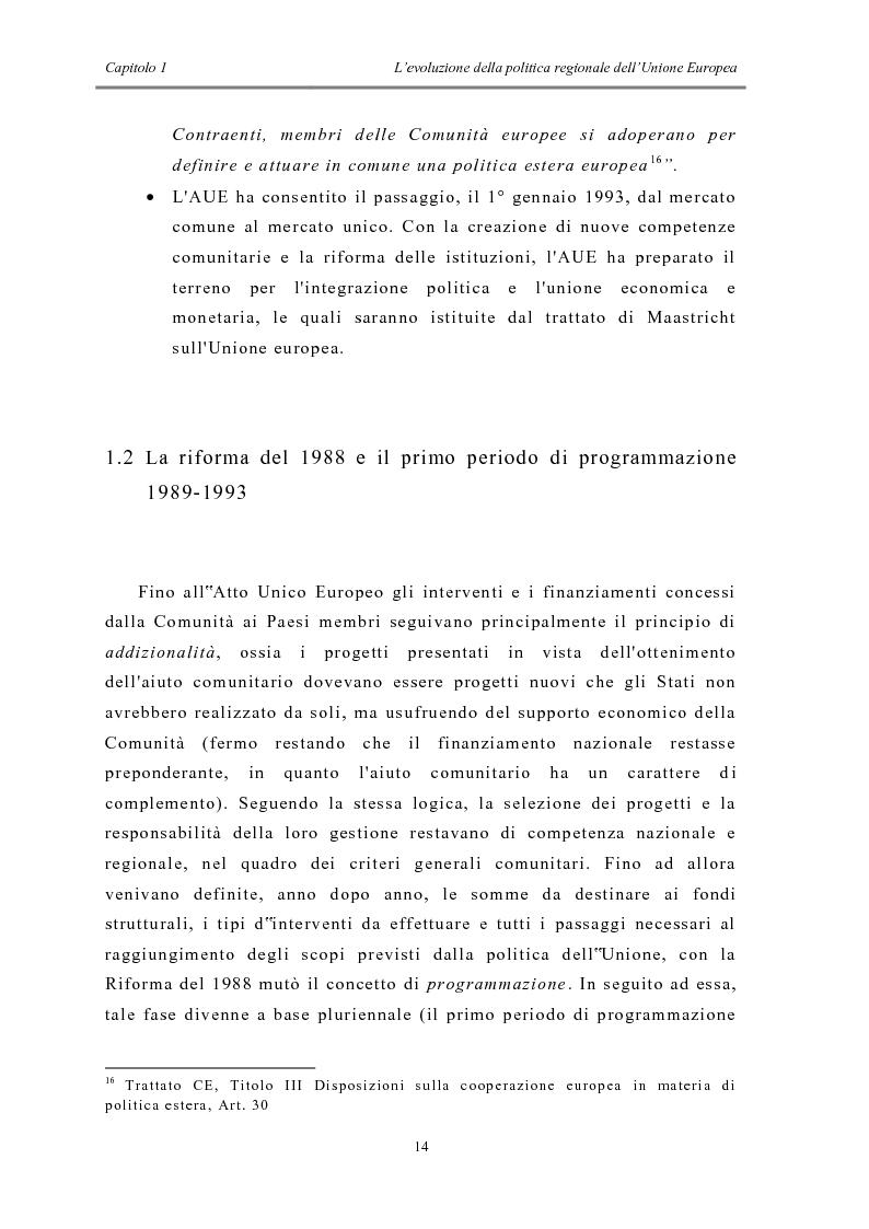Anteprima della tesi: La politica di coesione e il processo di convergenza in Europa, Pagina 10