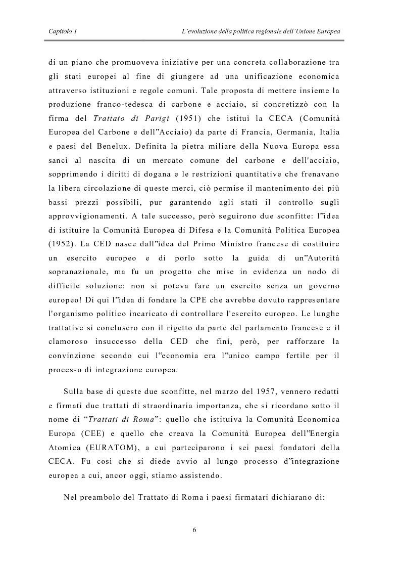 Anteprima della tesi: La politica di coesione e il processo di convergenza in Europa, Pagina 2