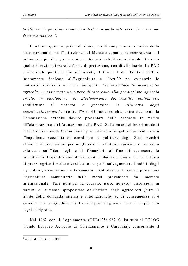Anteprima della tesi: La politica di coesione e il processo di convergenza in Europa, Pagina 4