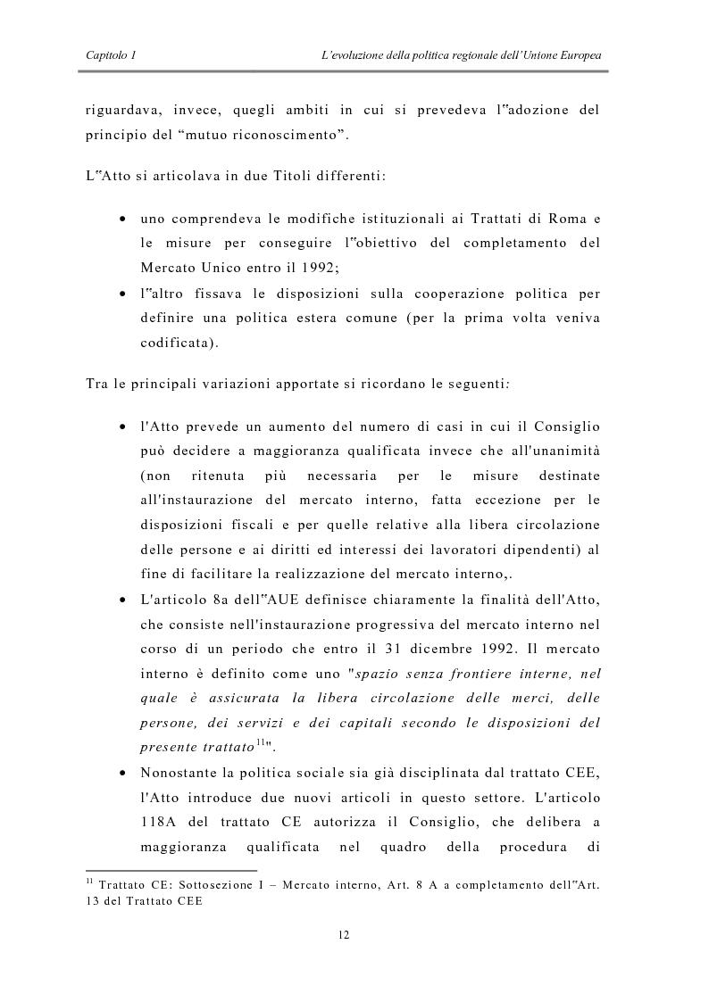 Anteprima della tesi: La politica di coesione e il processo di convergenza in Europa, Pagina 8
