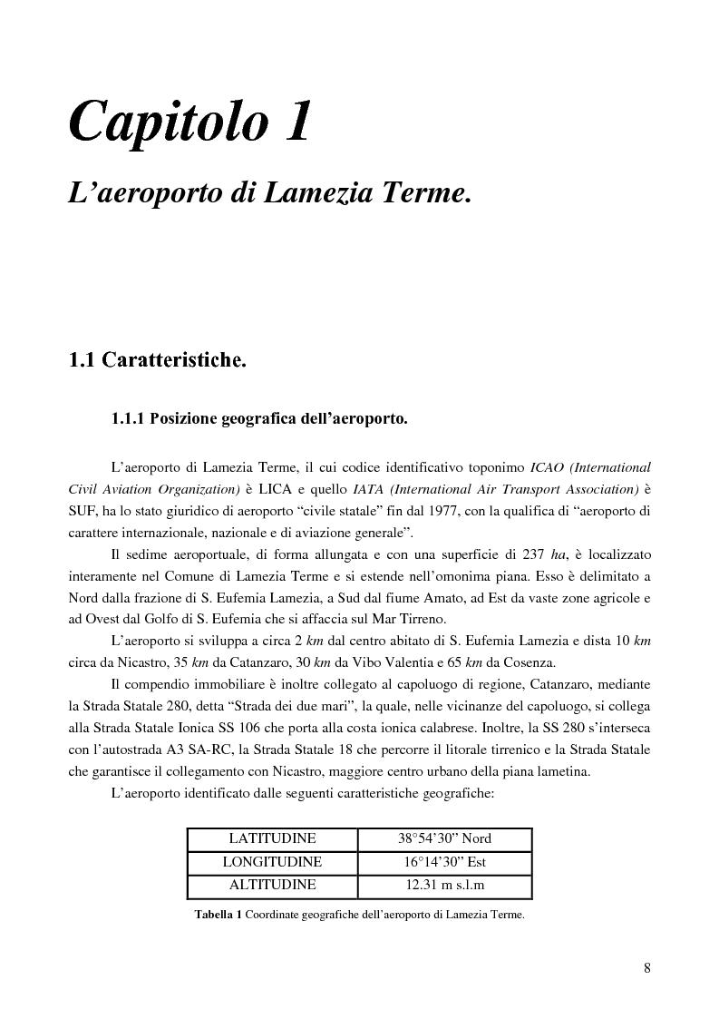 Anteprima della tesi: Le basi di un Safety Management System sull'Aeroporto Internazionale di Lamezia Terme, Pagina 3