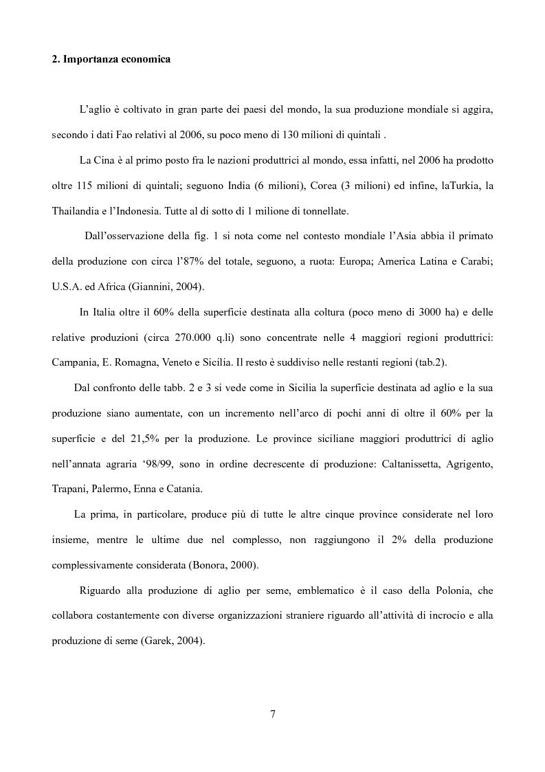 Anteprima della tesi: Caratterizzazione di tipi di aglio (Allium sativum L.) diffusi in Sicilia, Pagina 4