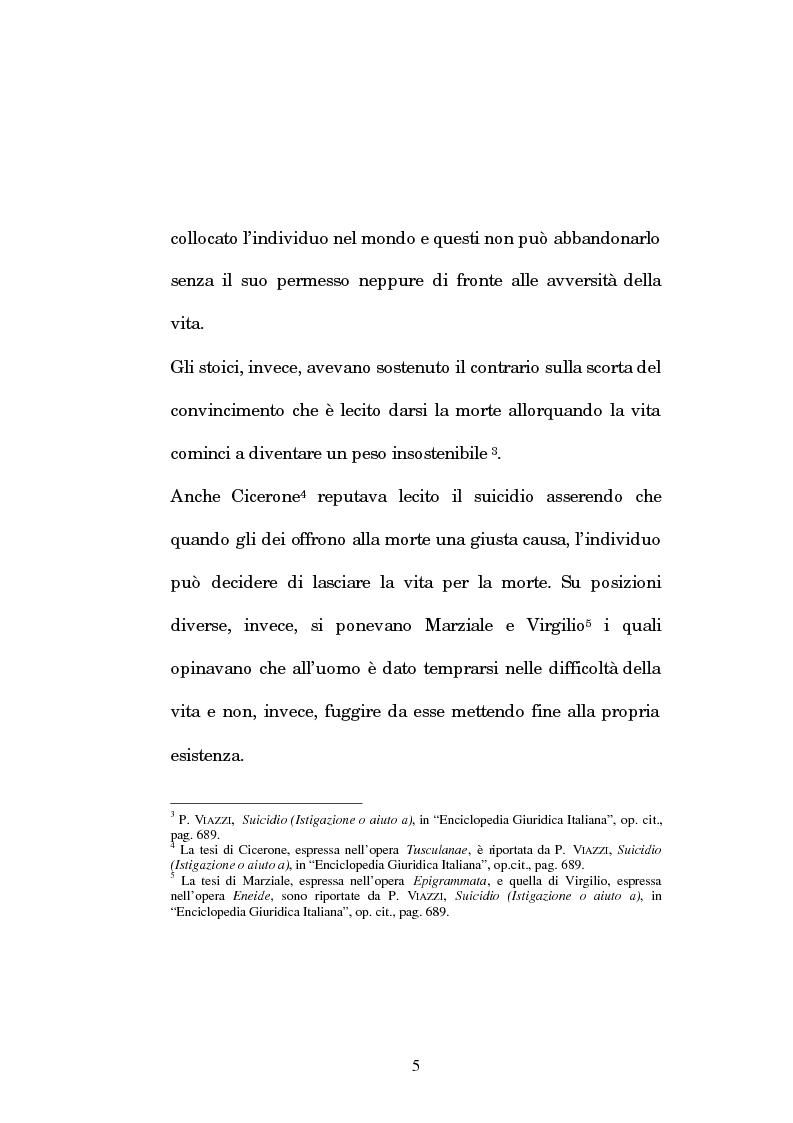 Anteprima della tesi: L'istigazione e l'aiuto al suicidio nella legislazione, nella dottrina e nella giurisprudenza post-unitarie, Pagina 2