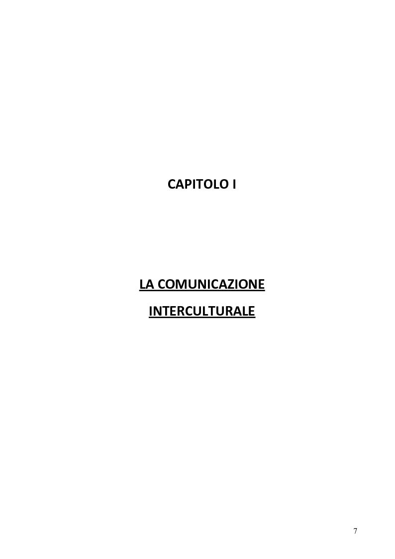 Anteprima della tesi: La comunicazione interculturale, Pagina 3
