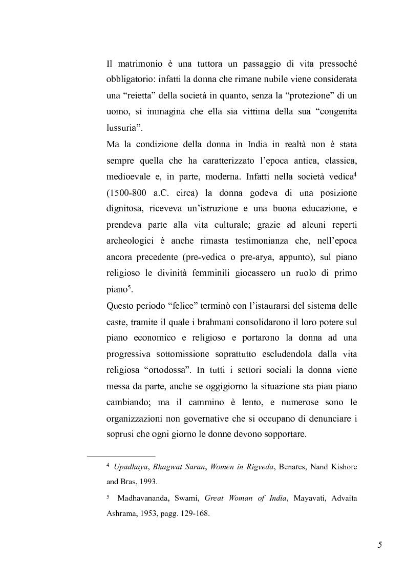 Anteprima della tesi: Essere donna in India oggi, Pagina 3