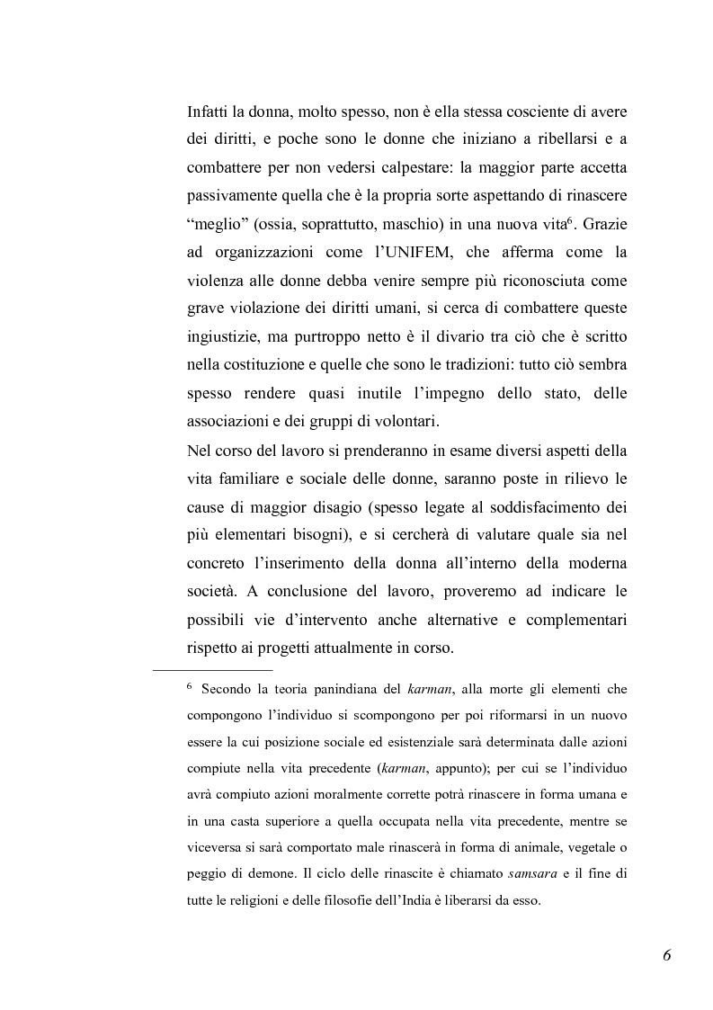 Anteprima della tesi: Essere donna in India oggi, Pagina 4