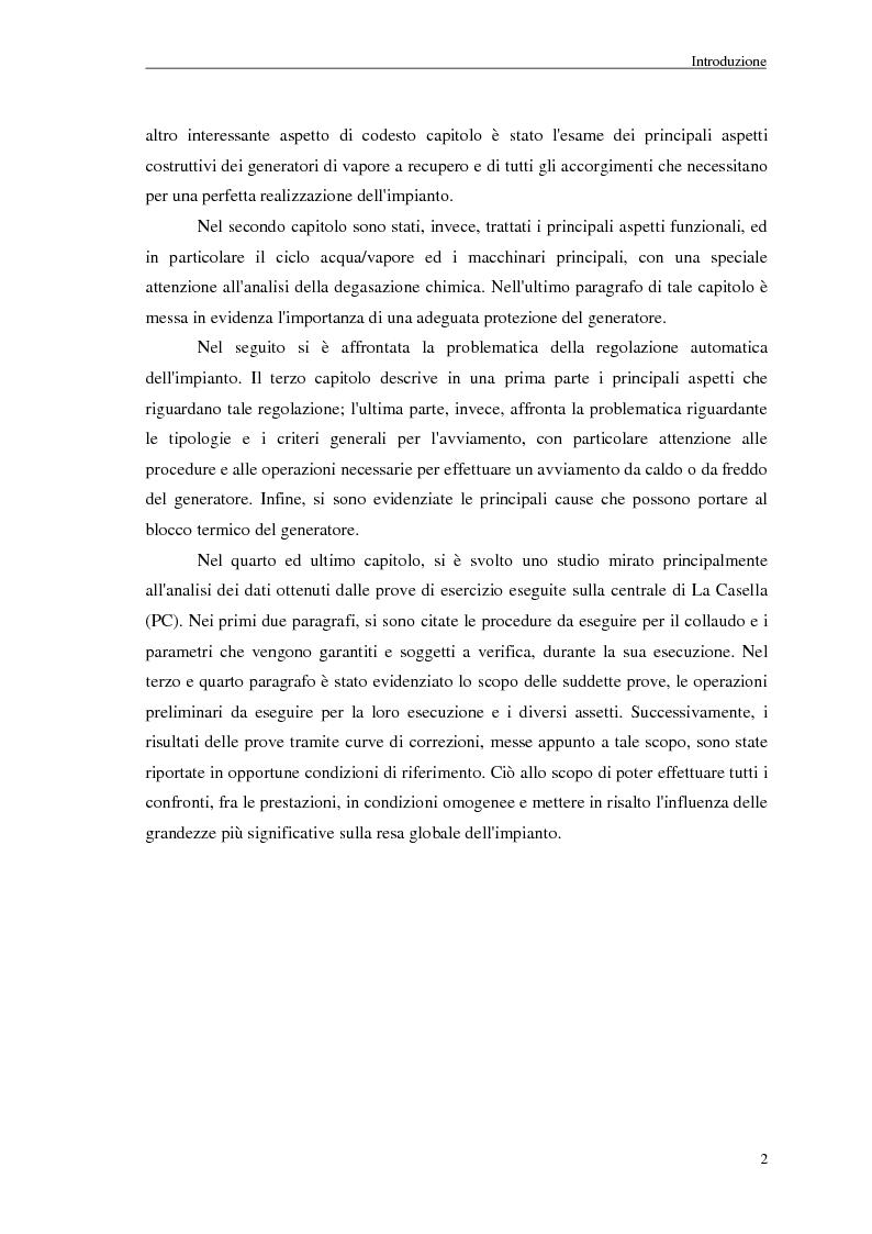 Anteprima della tesi: Strategie di controllo dei generatori di vapore in impianti a recupero, Pagina 2