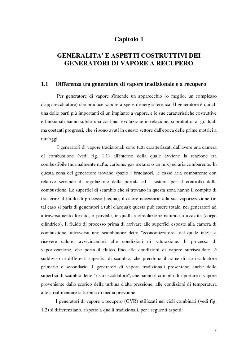 Anteprima della tesi: Strategie di controllo dei generatori di vapore in impianti a recupero, Pagina 3