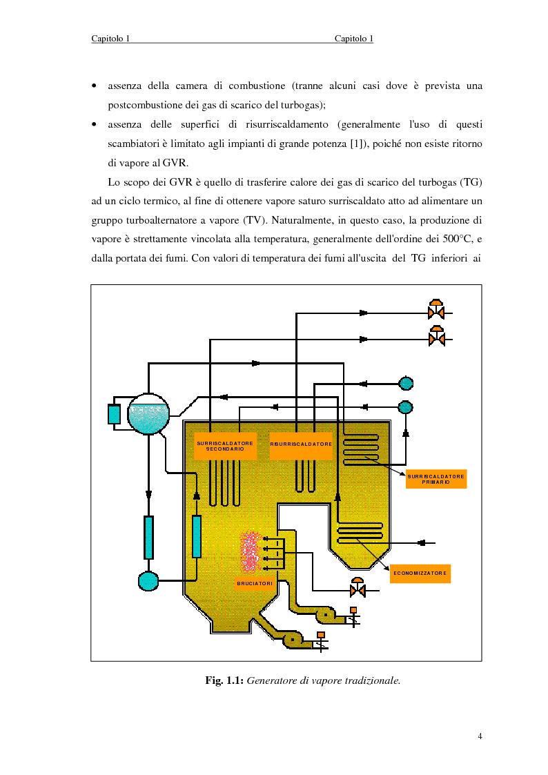 Anteprima della tesi: Strategie di controllo dei generatori di vapore in impianti a recupero, Pagina 4