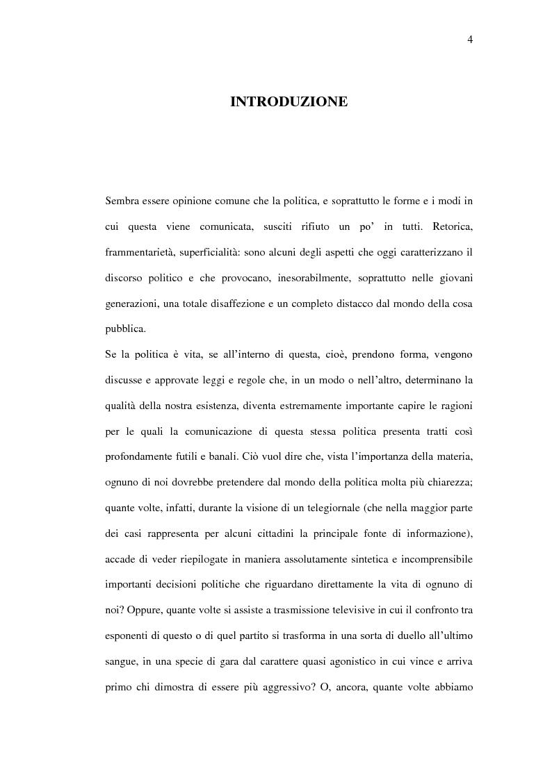 Anteprima della tesi: La comunicazione politica tra old e new media. Un caso di studio: Antonio Di Pietro online., Pagina 1