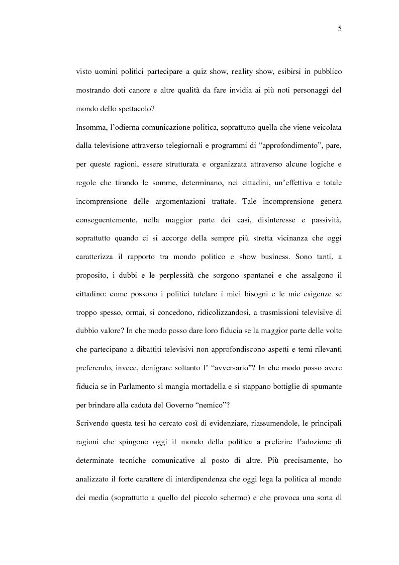 Anteprima della tesi: La comunicazione politica tra old e new media. Un caso di studio: Antonio Di Pietro online., Pagina 2