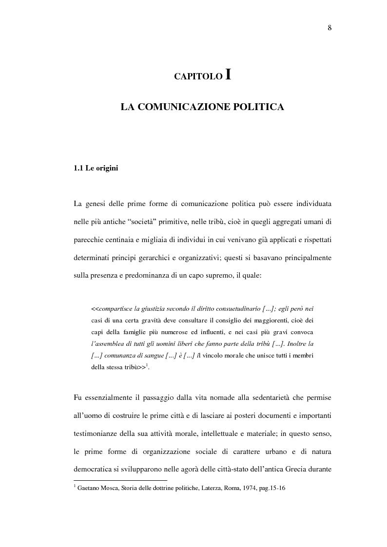 Anteprima della tesi: La comunicazione politica tra old e new media. Un caso di studio: Antonio Di Pietro online., Pagina 5