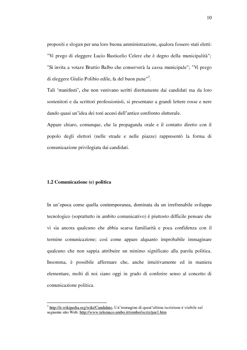 Anteprima della tesi: La comunicazione politica tra old e new media. Un caso di studio: Antonio Di Pietro online., Pagina 7