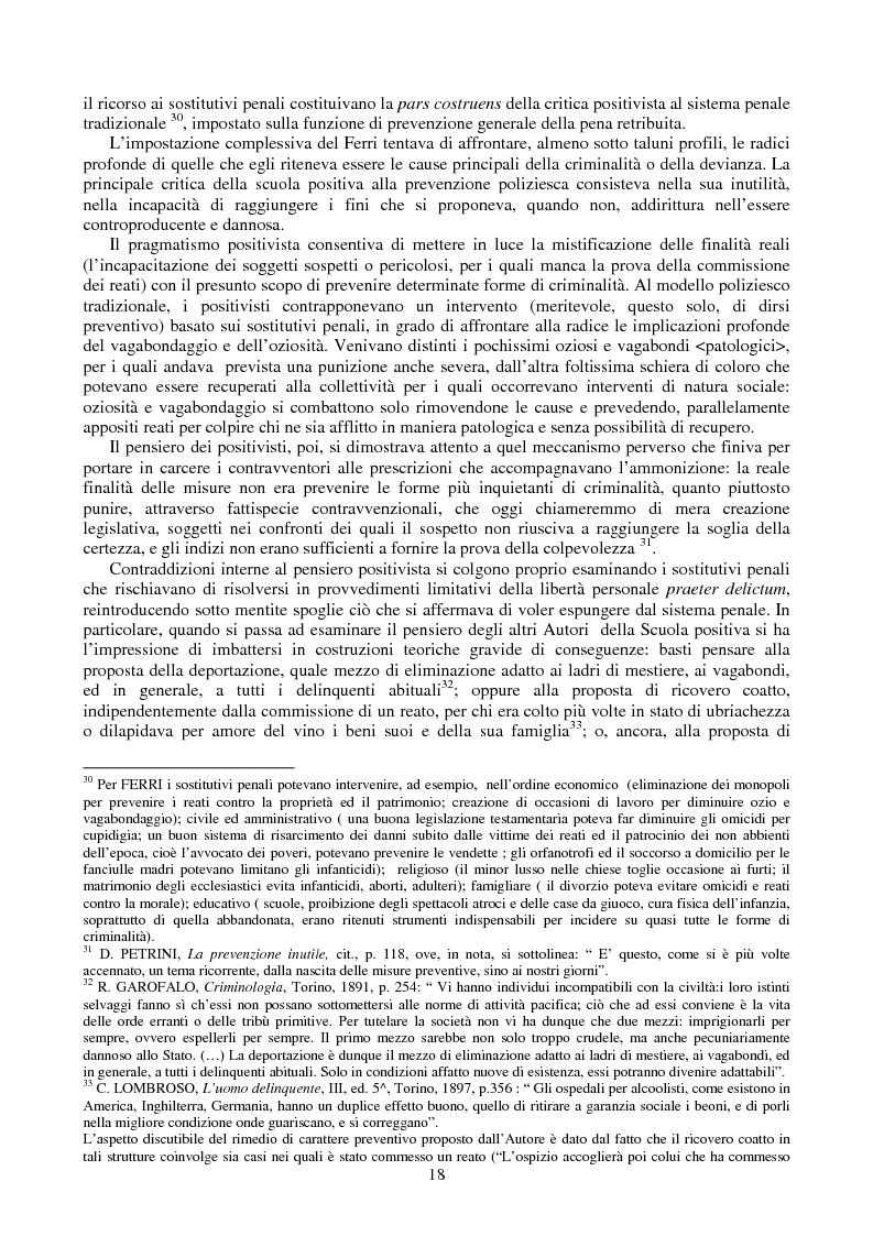 Anteprima della tesi: Le misure di prevenzione: microsistema giuridico penale connotato da perenne emergenza, Pagina 10
