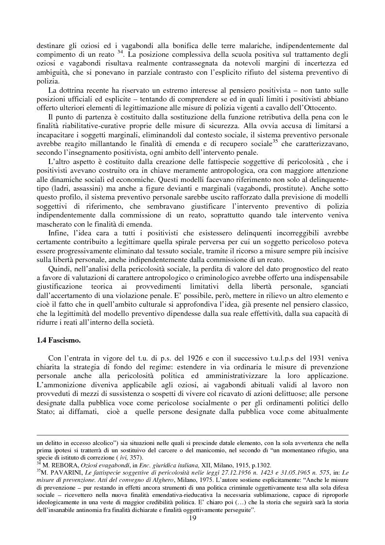 Anteprima della tesi: Le misure di prevenzione: microsistema giuridico penale connotato da perenne emergenza, Pagina 11