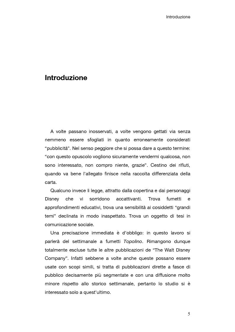 Anteprima della tesi: Le campagne di comunicazione sociale su Topolino: analisi di caso e valutazione dell'efficacia, Pagina 2