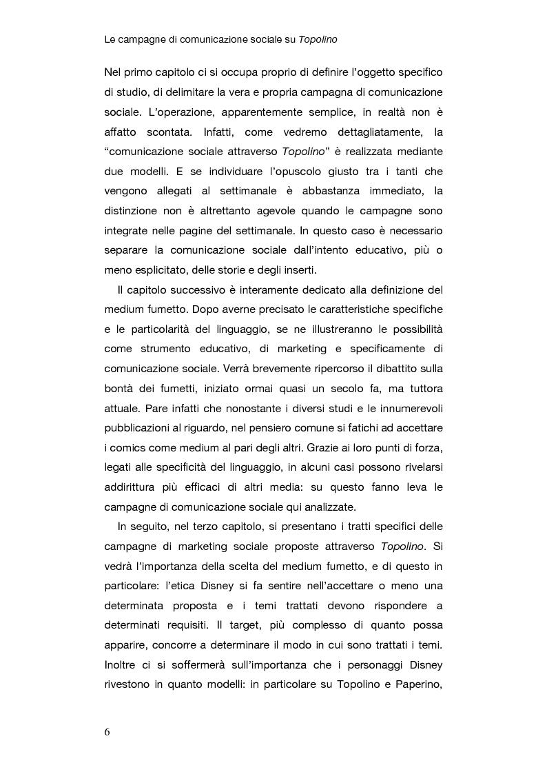 Anteprima della tesi: Le campagne di comunicazione sociale su Topolino: analisi di caso e valutazione dell'efficacia, Pagina 3