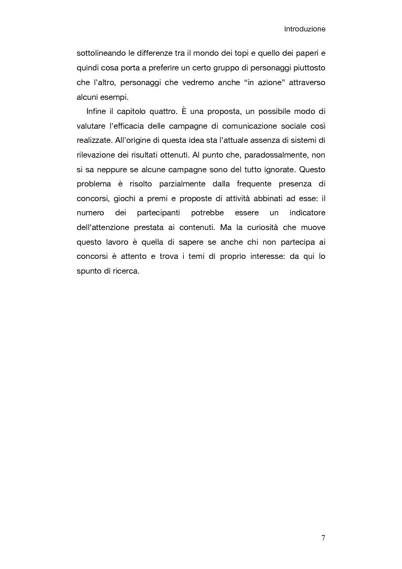 Anteprima della tesi: Le campagne di comunicazione sociale su Topolino: analisi di caso e valutazione dell'efficacia, Pagina 4